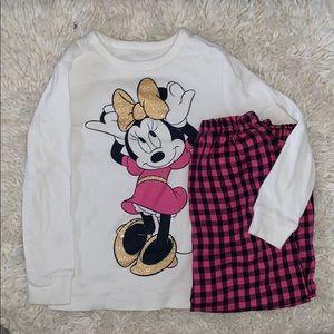 4t Minnie Mouse 2pc pj set